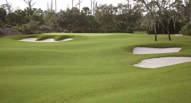 A view of green #4 at Moorings Course