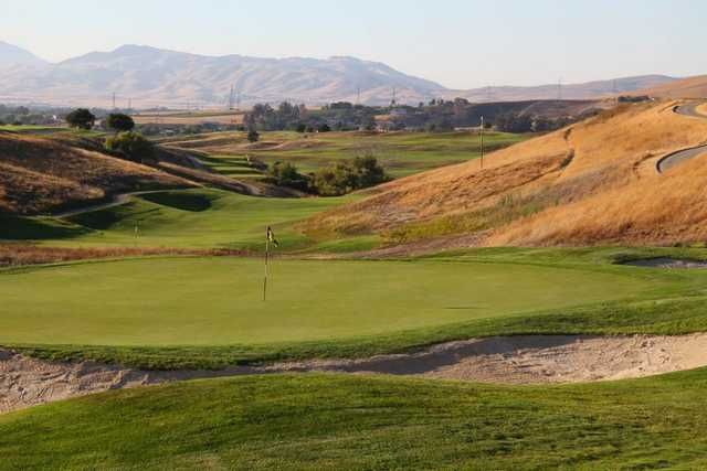 A view of a hole at Poppy Ridge Golf Course