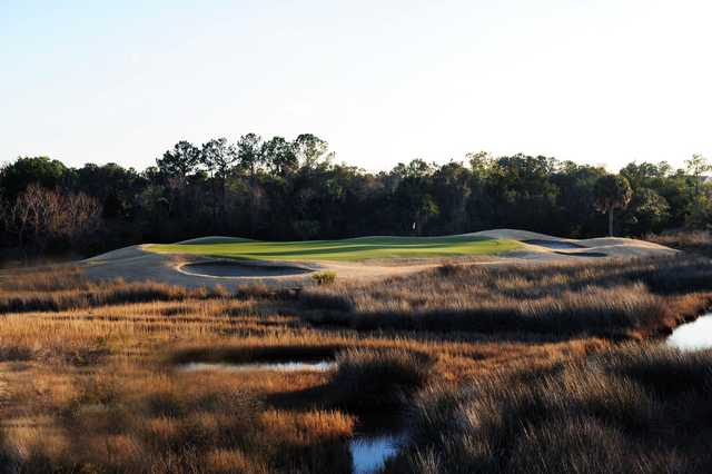 A view of the signature hole, #2 at Charleston National Golf Club