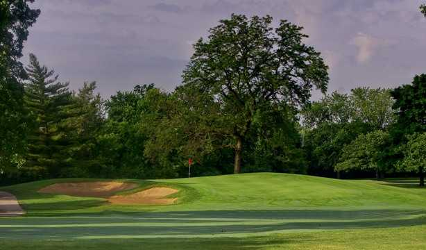 A view of hole #9 from Course #3 at Cog Hill Golf and Country Club