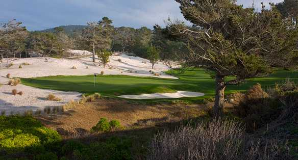A view of hole #9 from Dunes at Monterey Peninsula Country Club