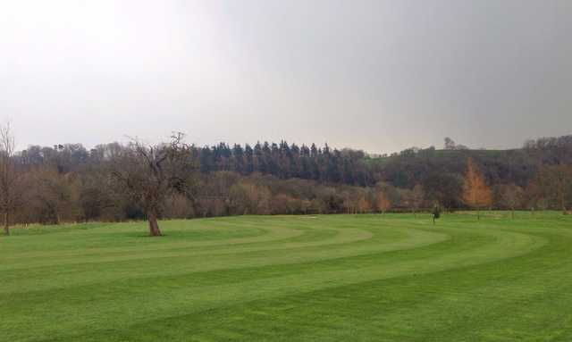 A view of fairway #1 at Lakeside Golf Course