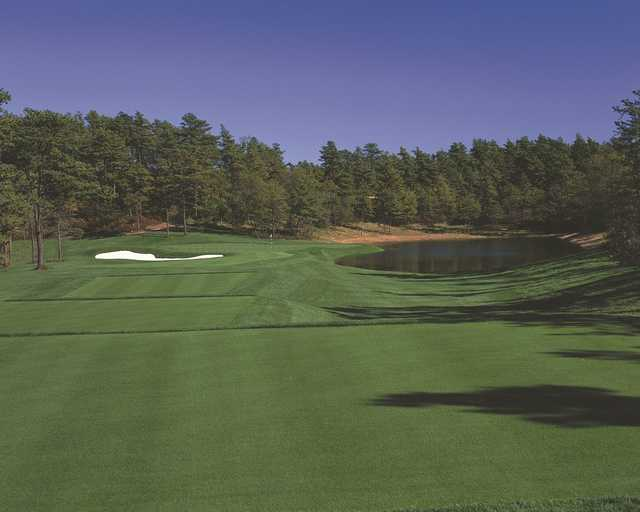 A view from a tee at Pinehills Golf Club