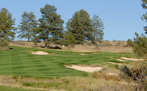 A view of a hole at Colorado Golf Club