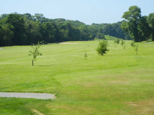 A view of fairway #1 at Douglas Golf Club