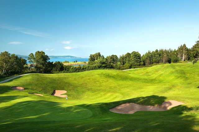 View of the 5th green at The Cape Breton Highlands Golf Course