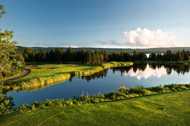 View from the 3rd tee at The Cape Breton Highlands Golf Course