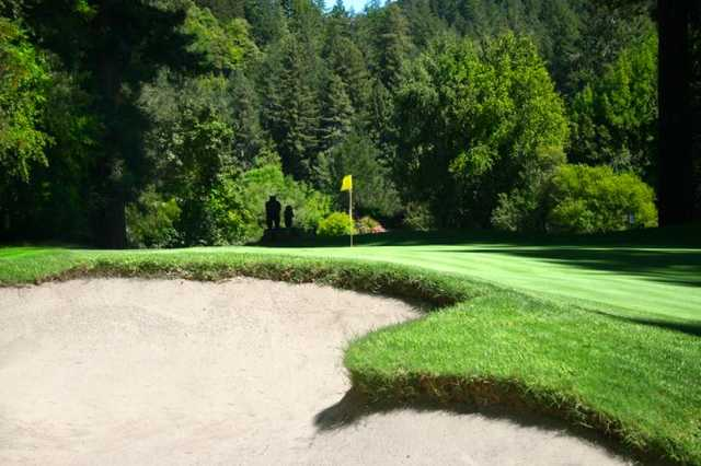 A view of a hole at Northwood Golf Club