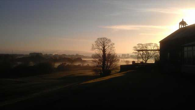 Sunrise view from Down Royal Park Golf Course