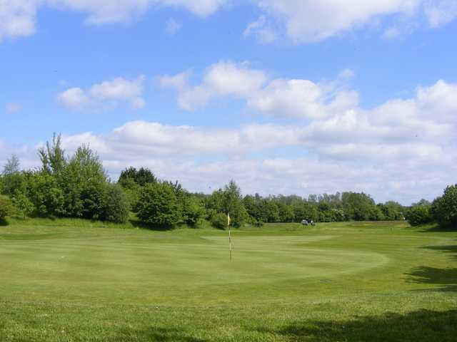 Looking back from a green from the Adderbury Course at Banbury Golf Club