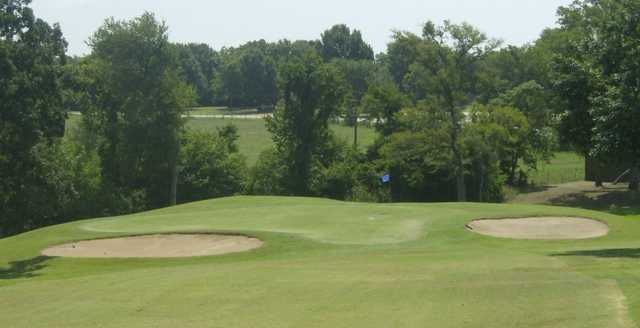 A view of hole #8 at Corsicana Country Club