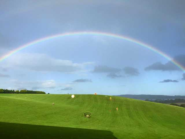 A rainbow over Exminster Golf Centre
