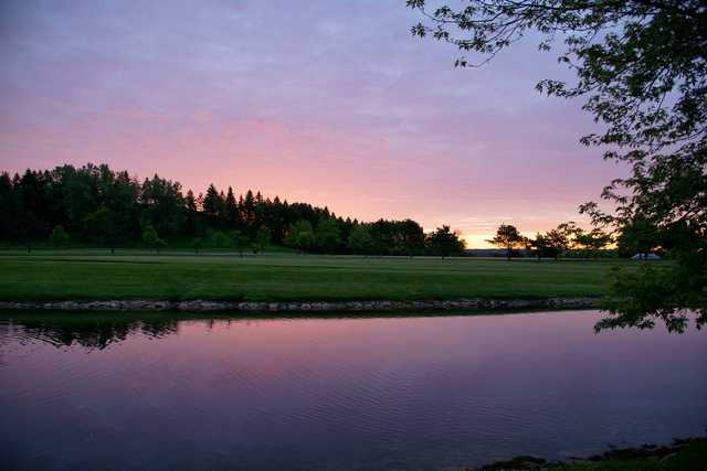 Sunrise over the 9th hole at Afton Alps Golf Course