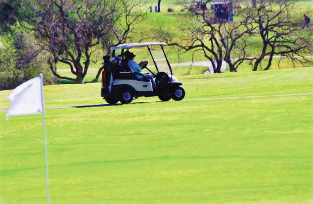 A view from a green at Fort Sam Houston Golf Course