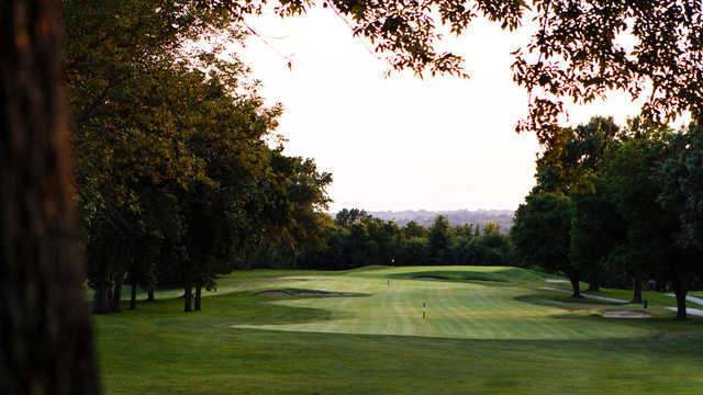 A view of a fairway at Swope Memorial Golf Course