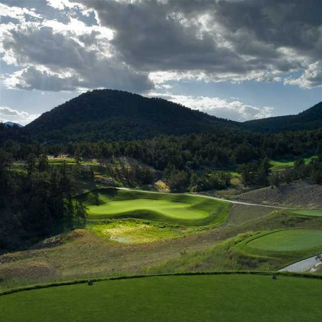 A view from a tee at Lakota Canyon Ranch Golf Club