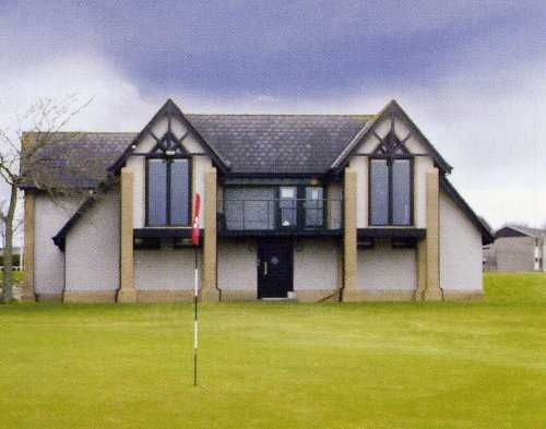 A view of the clubhouse at Auchmill Golf Course