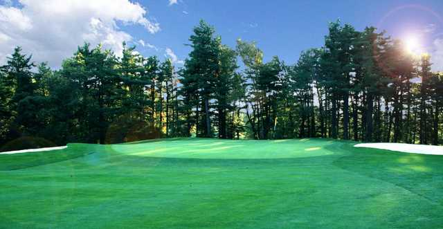 A view of the 8th green at Honey Run Golf Club
