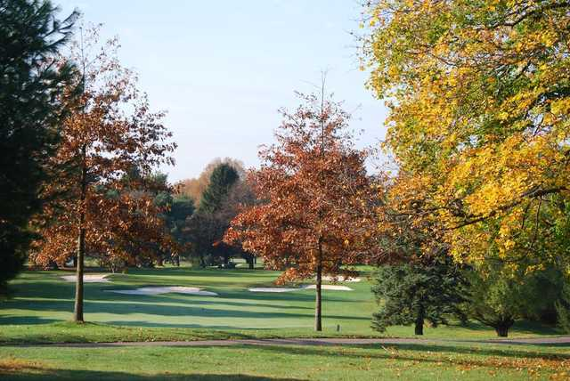A fall day view from Northampton Valley Country Club