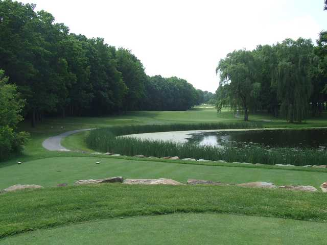 A view from a tee at Oak Tree Golf Club
