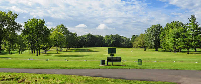 A view of the driving range at Quail Brook Golf Course.