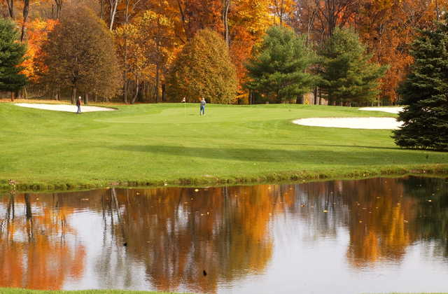 A vivid fall day view from Sinking Valley Country Club