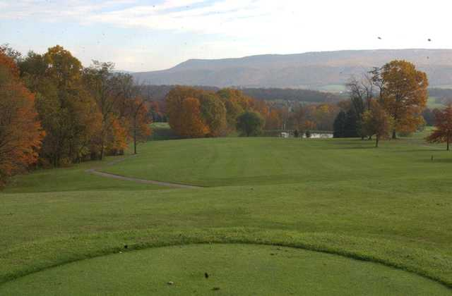 A view from a tee at Sinking Valley Country Club