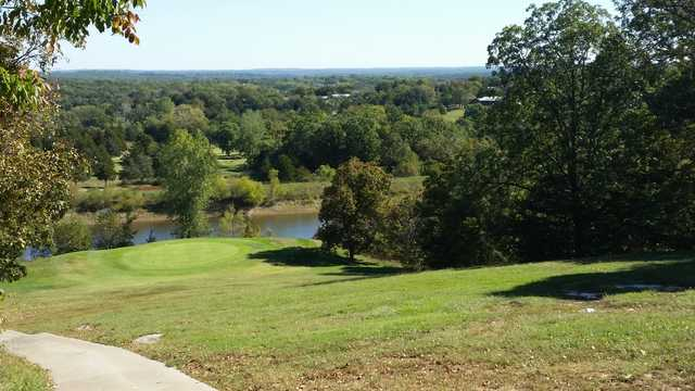 View of a green at Pomme De Terre's Shadow Lake Golf Course