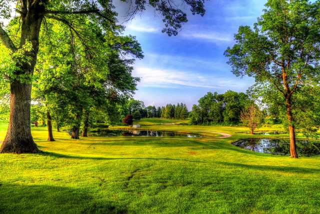 View of a green at Pine View Golf Club