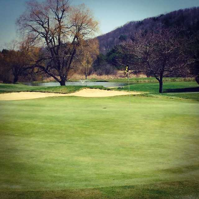 A view of a hole at Tyoga Country Club