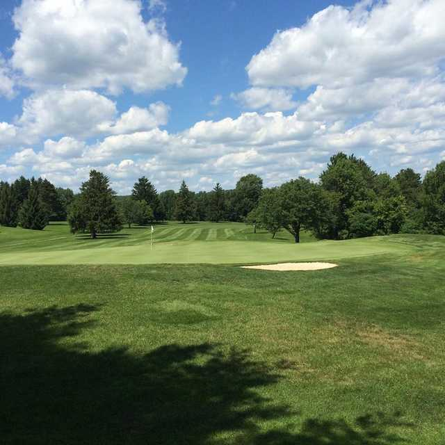 A view of a green at Tyoga Country Club