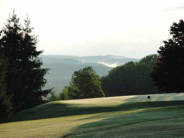 A view of a tee at Tyoga Country Club