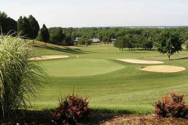 A view of a green at Wicomico Shores Golf Course.