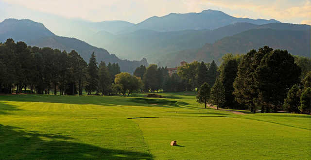 A view from a tee at Broadmoor Golf Club