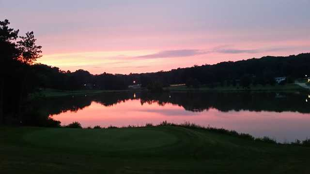 Sunset view from Indian Springs Golf and Country Club