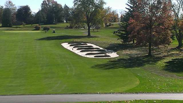 A view of green #3 at Bucknell Golf Club