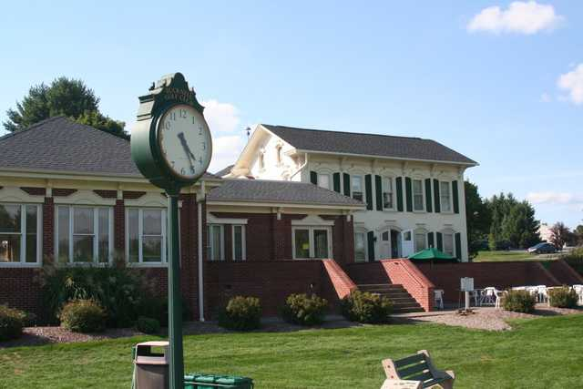 A view of the clubhouse at Bucknell Golf Club