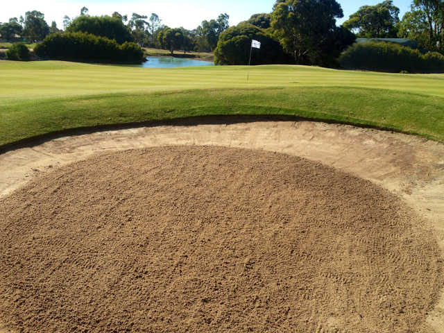 A view of hole #15 at Goonawarra Golf Club