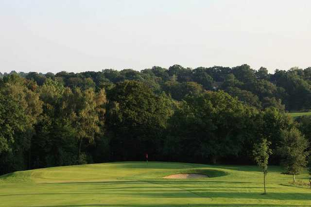 View of a green from the Kingfisher Course at Mannings Heath Golf Club
