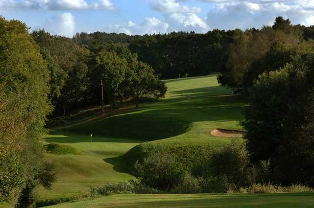 View of a green from the Waterfall Course at Mannings Heath Golf Club