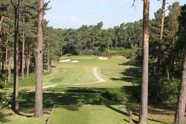A view from tee #8 at Camberley Heath Golf Club