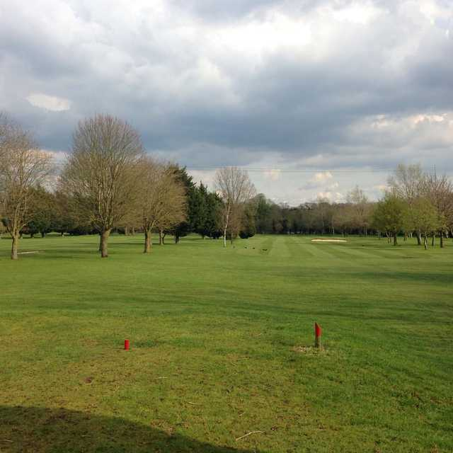 View from red tee at Shrivenham Park Golf Club