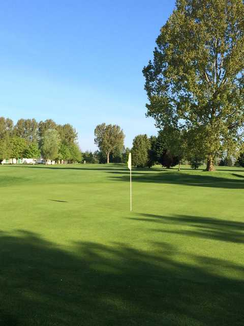 A view from a green at Shrivenham Park Golf Club