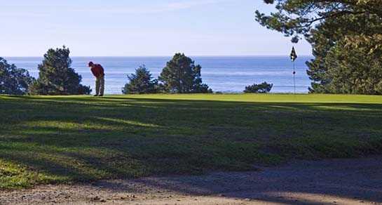 A view of the 8th hole at Little River Inn Golf & Tennis Club