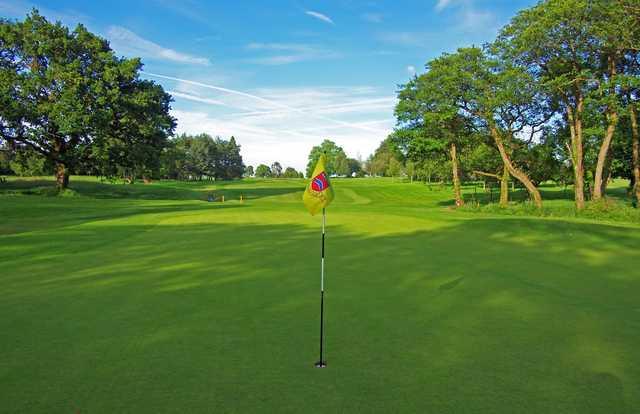 A view of hole #4 at Radyr Golf Club
