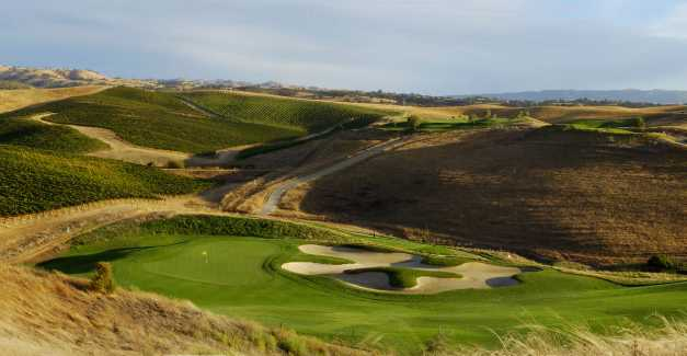 A view of hole #5 from Zinfandel at Poppy Ridge Golf Course