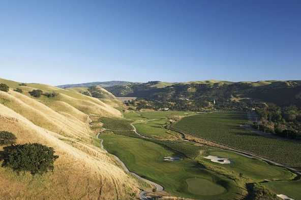Aerial view from The Course at Wente Vineyards