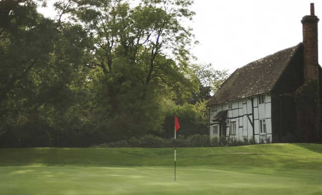 A view of a hole at Sonning Golf Club