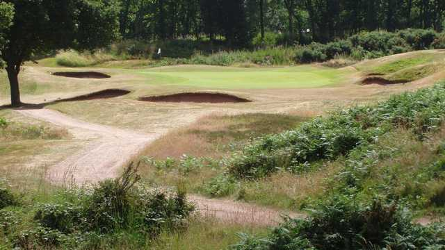 A view of a hole at Whittington Heath Golf Club