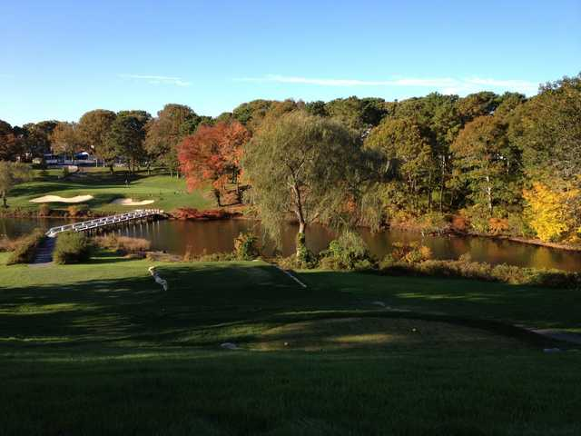 A view from a tee at Blue Rock Golf Course